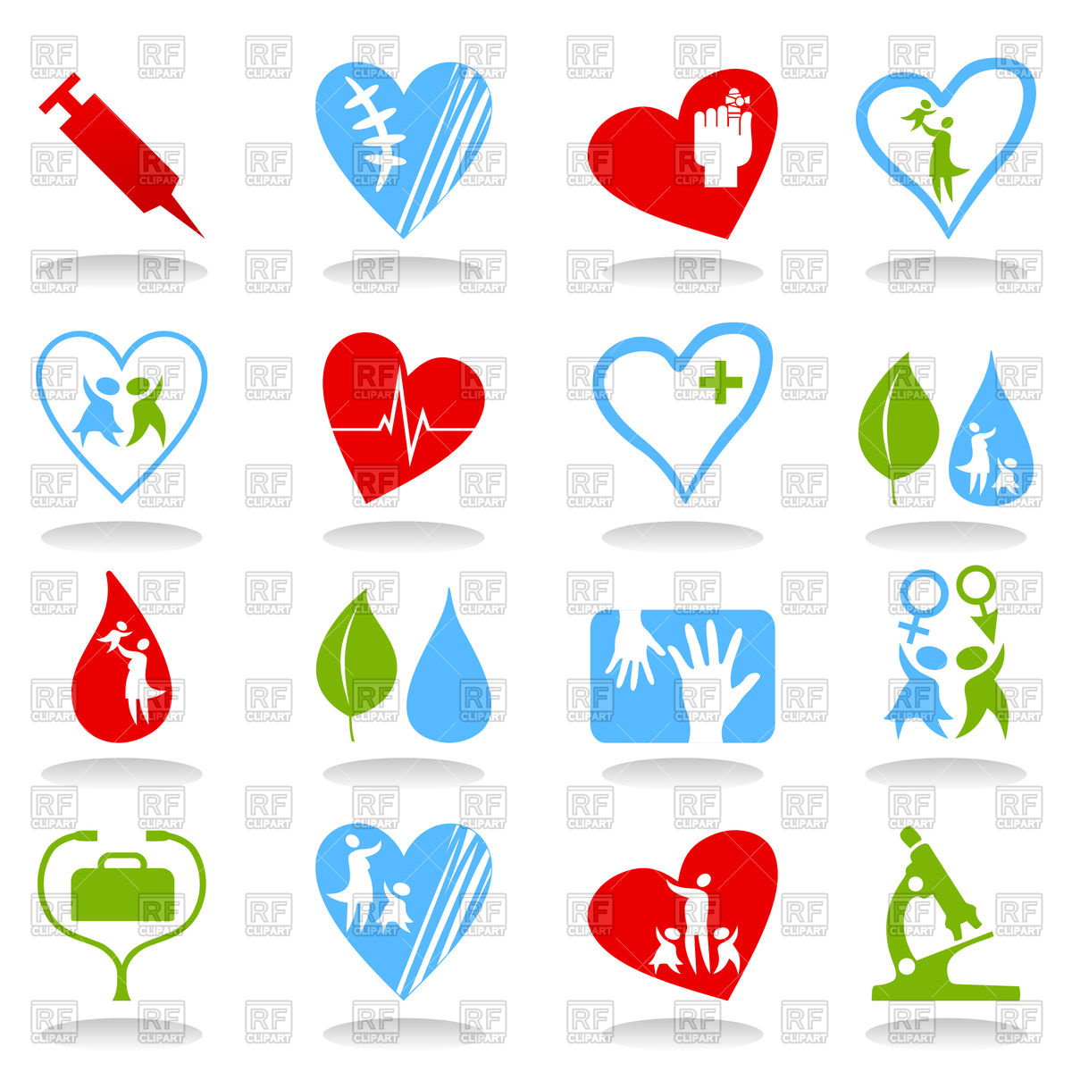 1200x1200 Collection Of Medical Theme Icons Vector Image Vector Artwork Of