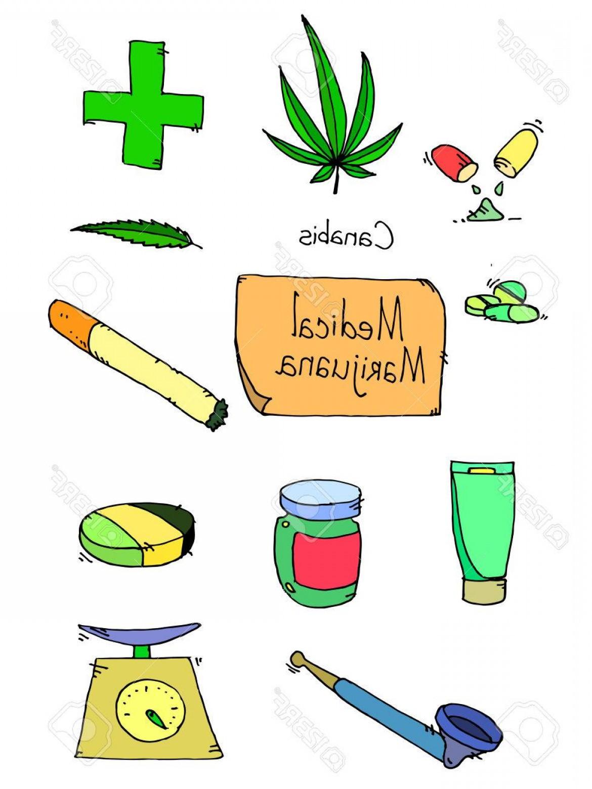 1170x1560 Photostock Vector Medical Marijuana Icons Medical Marijuana Icons