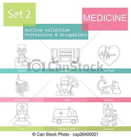 450x470 Professions Outline. Medical. Professions And Occupations Outline