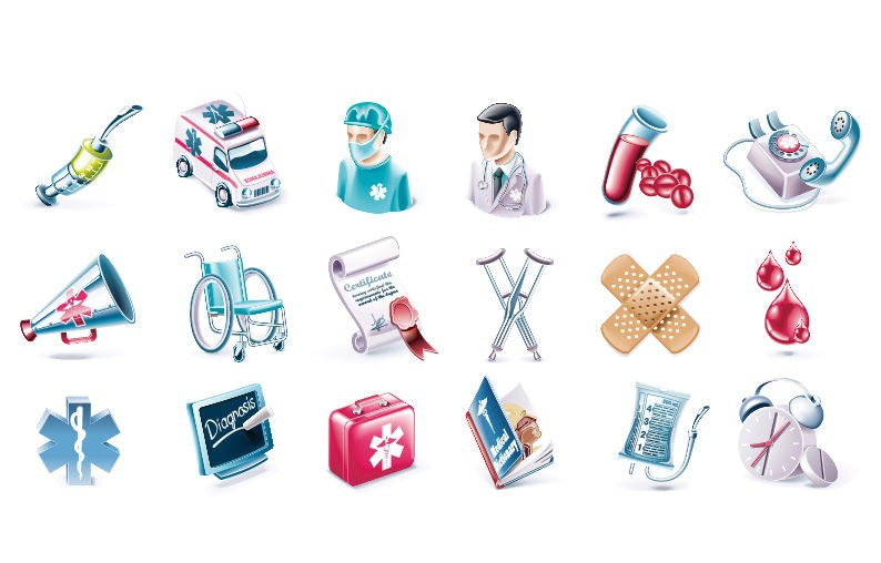 794x508 Health And Medical Vector Icon Set Free Icon All Free Web