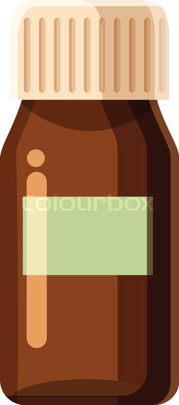 353x800 Medicine Bottle Icon. Cartoon Illustration Of Medicine Bottle
