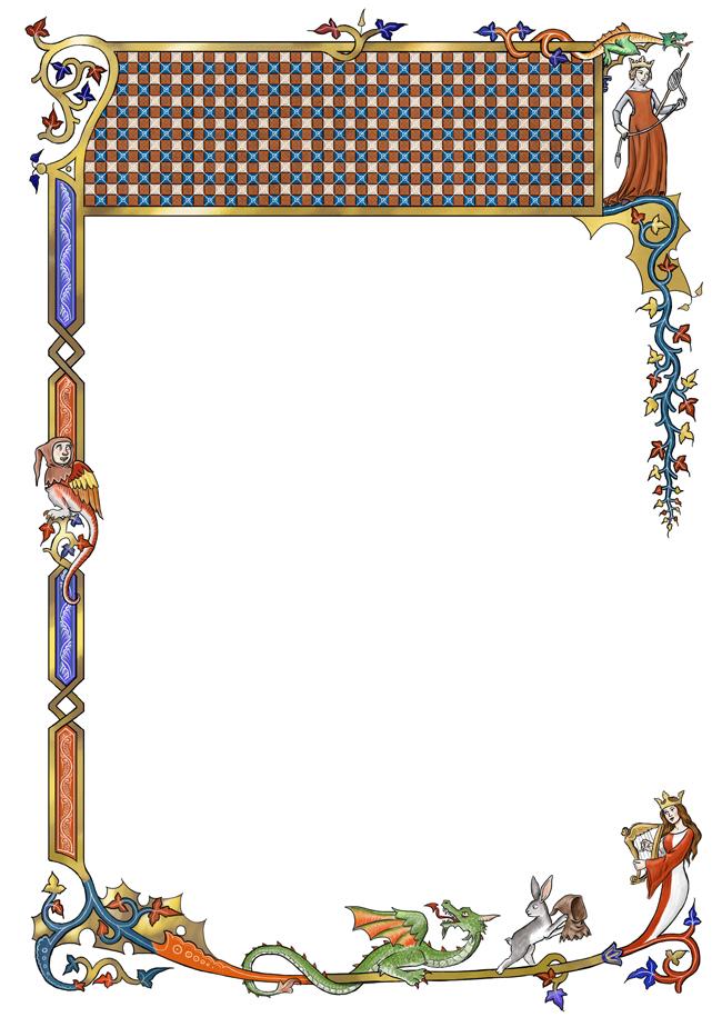 Medieval Border Vector