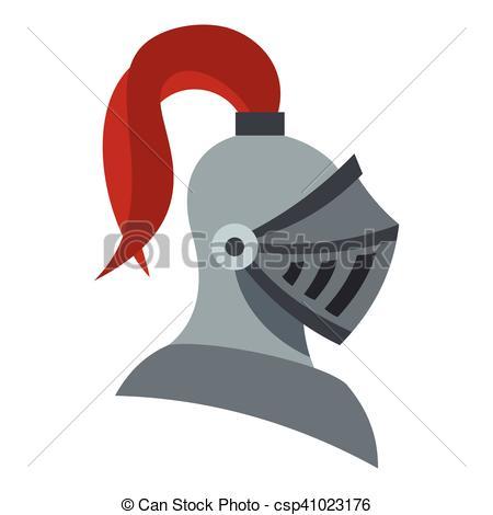 450x470 Medieval Knight Helmet Icon, Flat Style. Medieval Knight Helmet