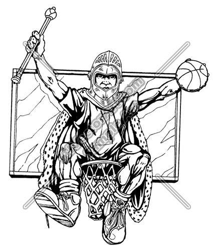 427x500 Knight Basketball Logo Clipart And Vectorart Sports Mascots