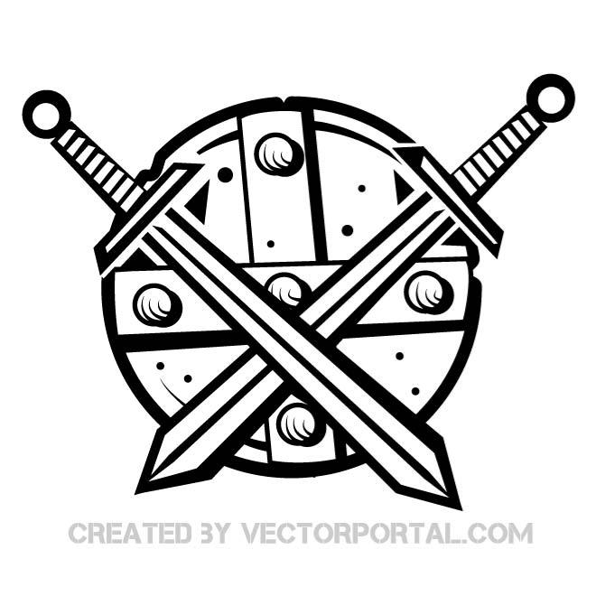 660x660 Medieval Shield Free Vector 123freevectors