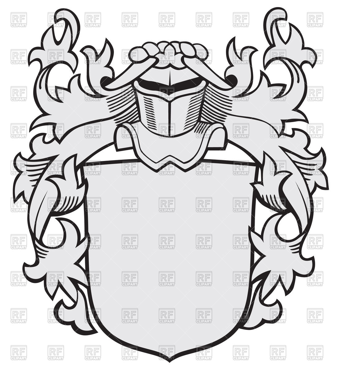 1108x1200 Medieval Knightly Coat Of Arms Vector Image Vector Artwork Of