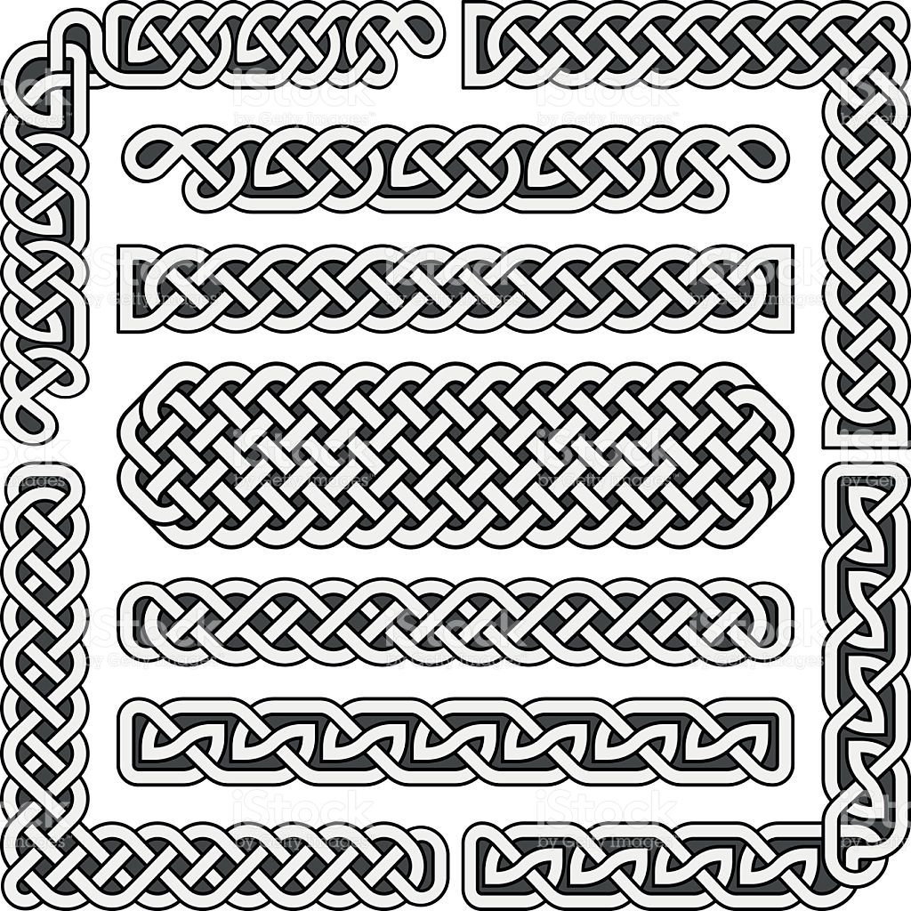 1024x1024 Celtic Knots Medieval Seamless Borders, Patterns, And Ornament