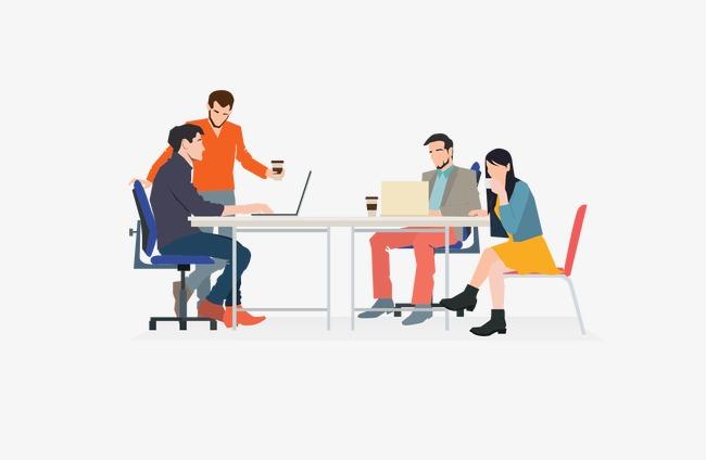 650x424 Business Meeting, Business Vector, Vector Business Men, Vector Men