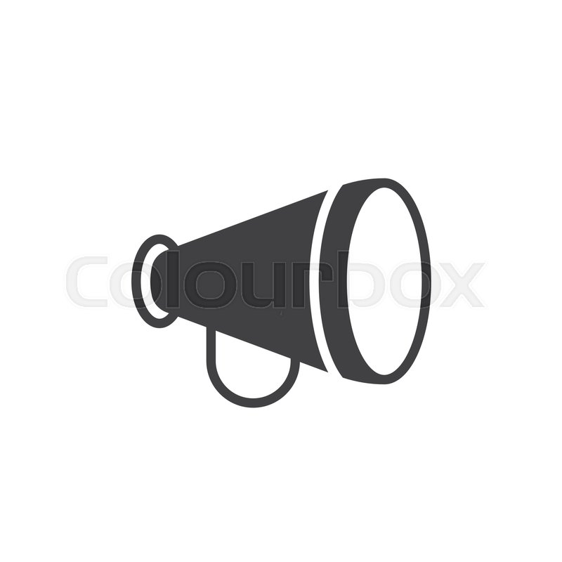 800x800 Advertising, Announcement, Bullhorn Icon Vector, Filled Flat Sign