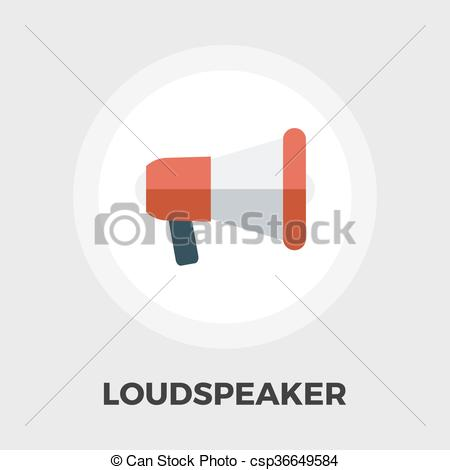 450x470 Megaphone Flat Icon. Megaphone Icon Vector. Flat Icon Isolated On
