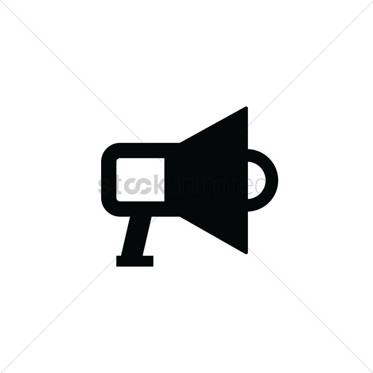 1300x1300 Megaphone Icon Vector Image