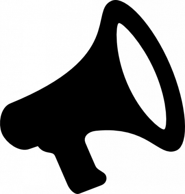 597x626 Small Megaphone Icons Free Download