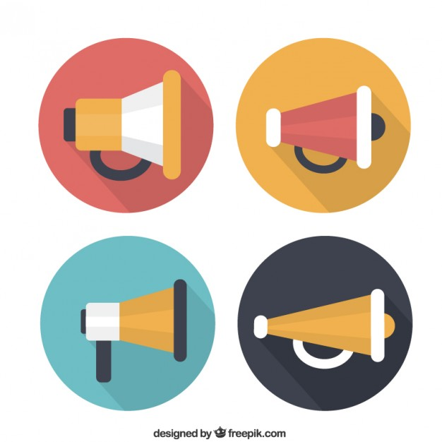 626x626 Variety Of Megaphone Icons Vector Free Download