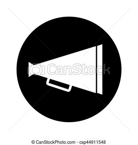 450x470 Director Cinema Megaphone Icon Vector Illustration Design.