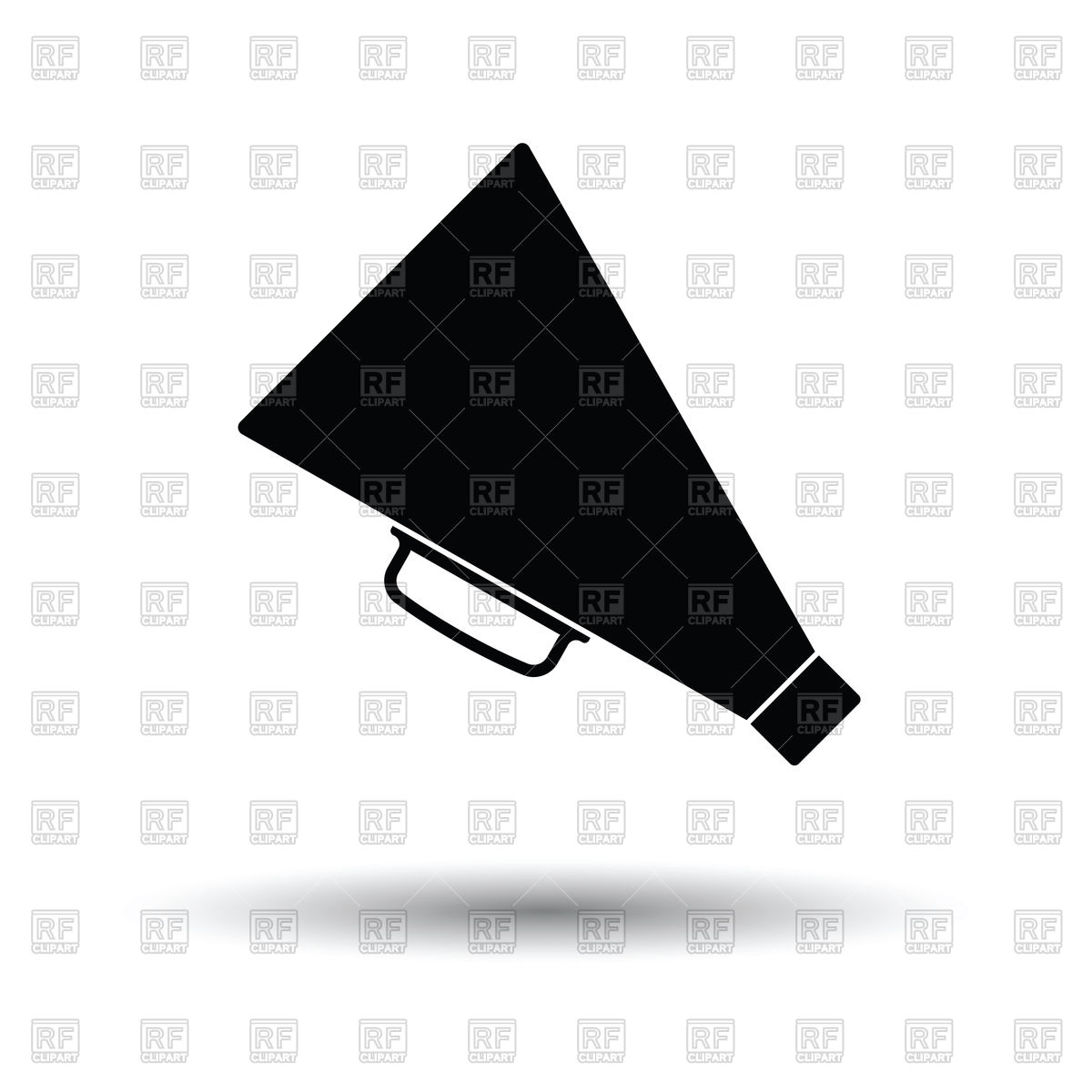 1200x1200 Director Megaphone Icon Vector Image Vector Artwork Of Signs