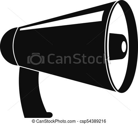 450x406 Old Megaphone Icon, Simple Style. Old Megaphone Icon. Simple