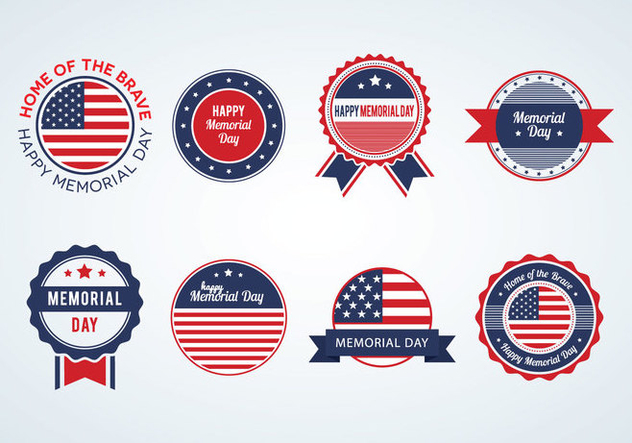 632x443 Memorial Day Badges Vector Free Vector Download 440885 Cannypic