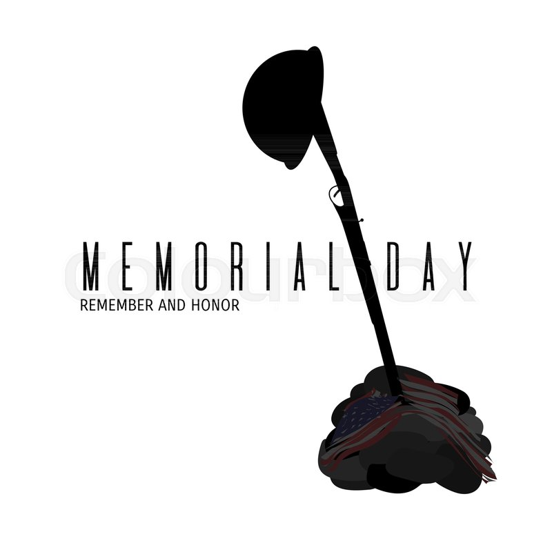 800x800 Memorial Day Composition. Remembrance And Honor Day Vector Card