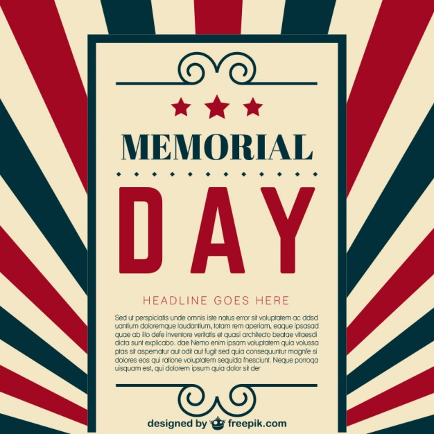 626x626 Memorial Day Template Vector Free Download