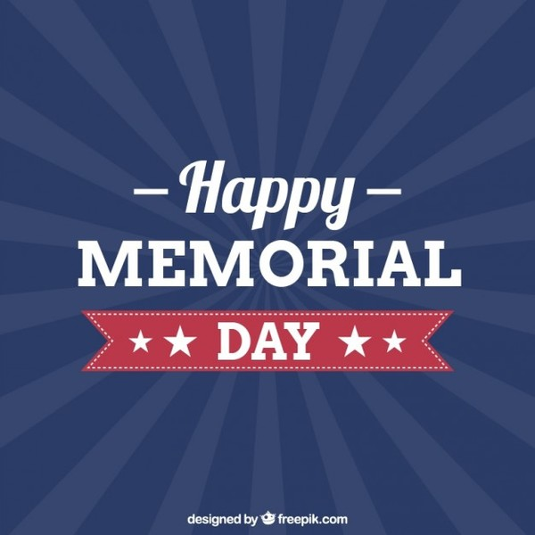 600x600 Memorial Day Free Vector Graphics 123freevectors
