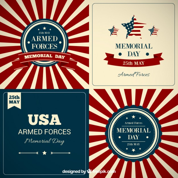 626x626 Memorial Day Background Collection Vector Free Download
