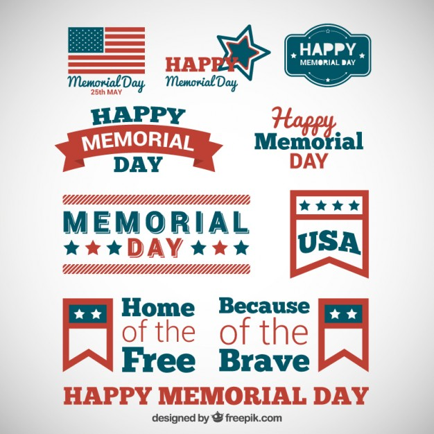 626x626 Memorial Day Badges Vector Free Download