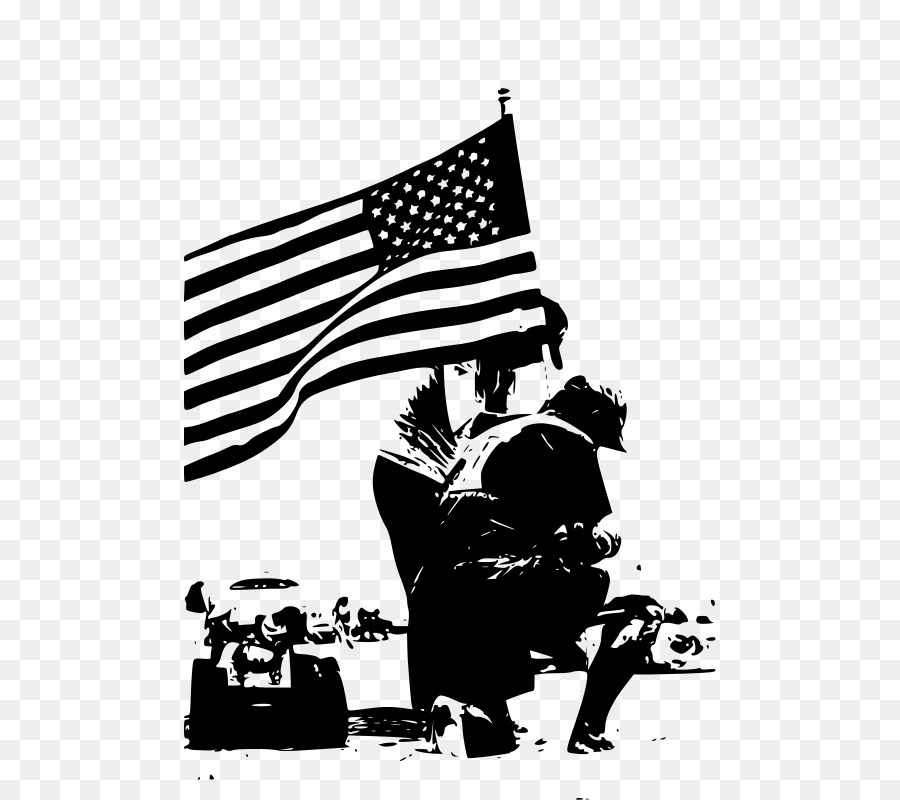 900x800 Black And White Memorial Day Clip Art