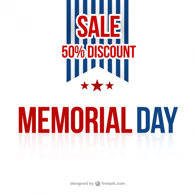 626x626 Memorial Day Sale Background Vector Free Download