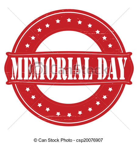 450x470 Memorial Day. Stamp With Text Memorial Day Inside, Vector