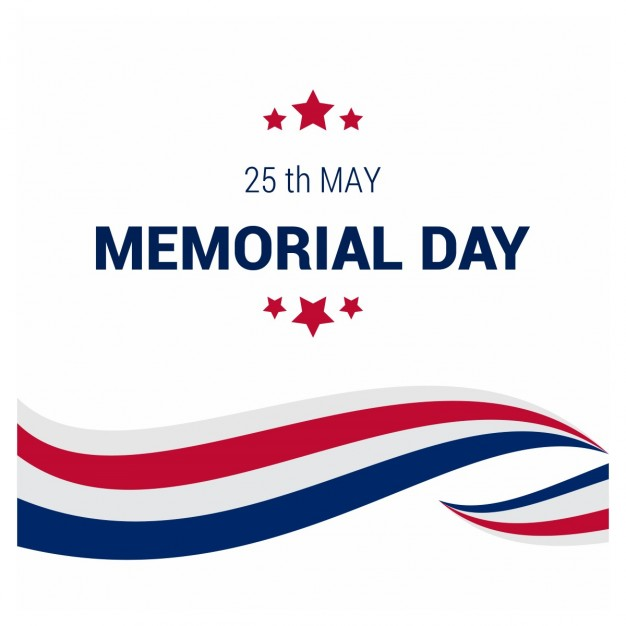 626x626 Usa Memorial Day Background Vector Free Download