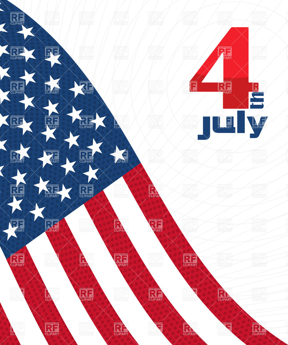 1000x1200 Independence Day Decorative Background With Usa Flag Vector Image