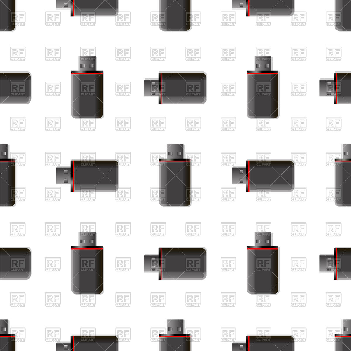 1200x1200 Memory Stick Seamless Background Vector Image Vector Artwork Of