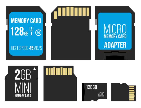 600x458 Micro Memory Card Vector Set Free Download