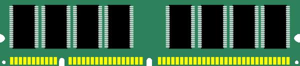 600x132 Ram Computer Memory Clip Art Free Vector 4vector