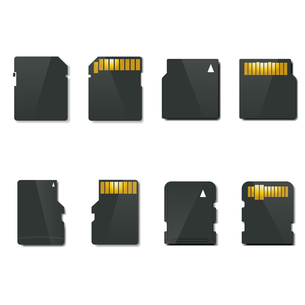 600x600 Sd Memory Card Vector Set Free Download
