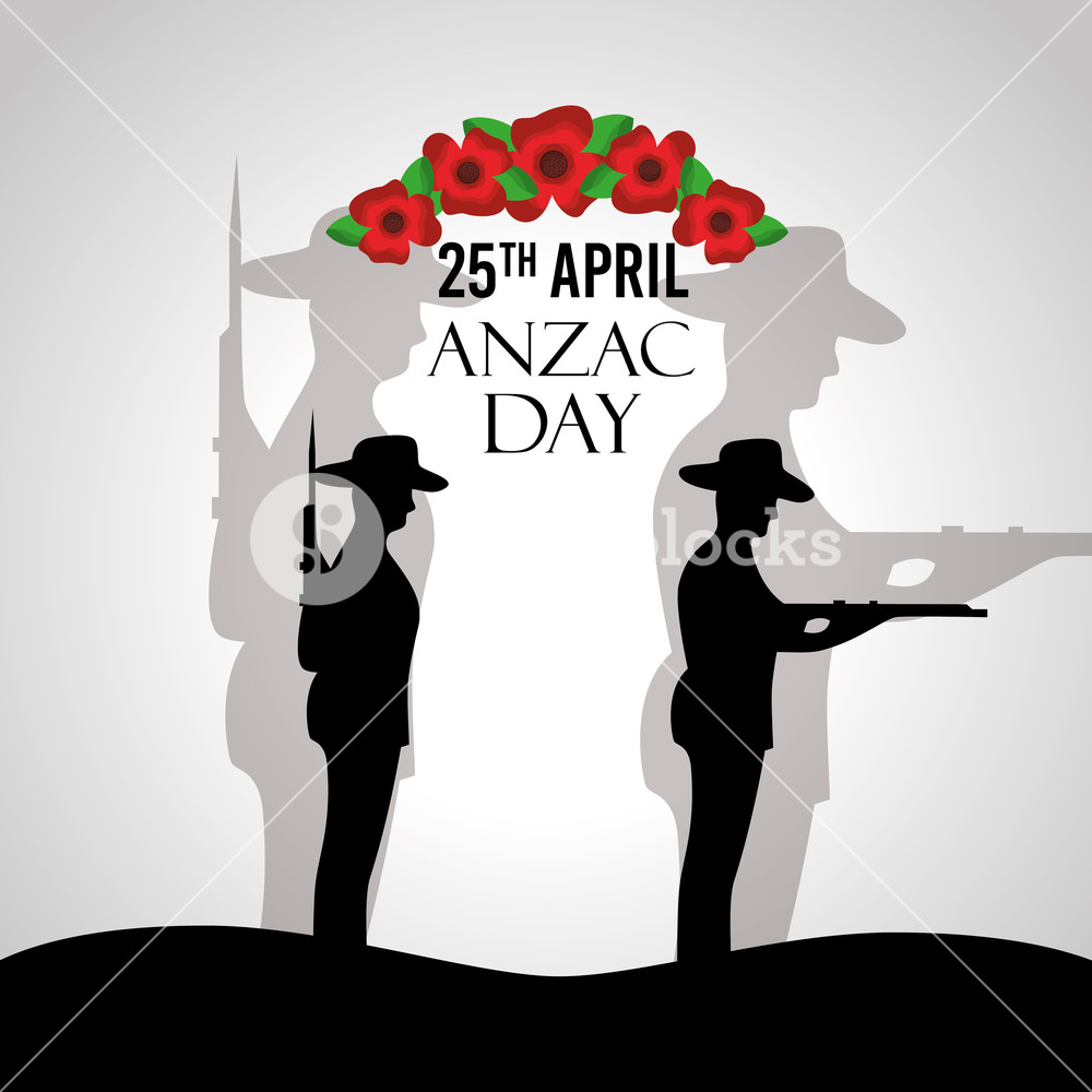 1000x1000 Anzac Day Celebration Poster Patriotic Soldier National Memory