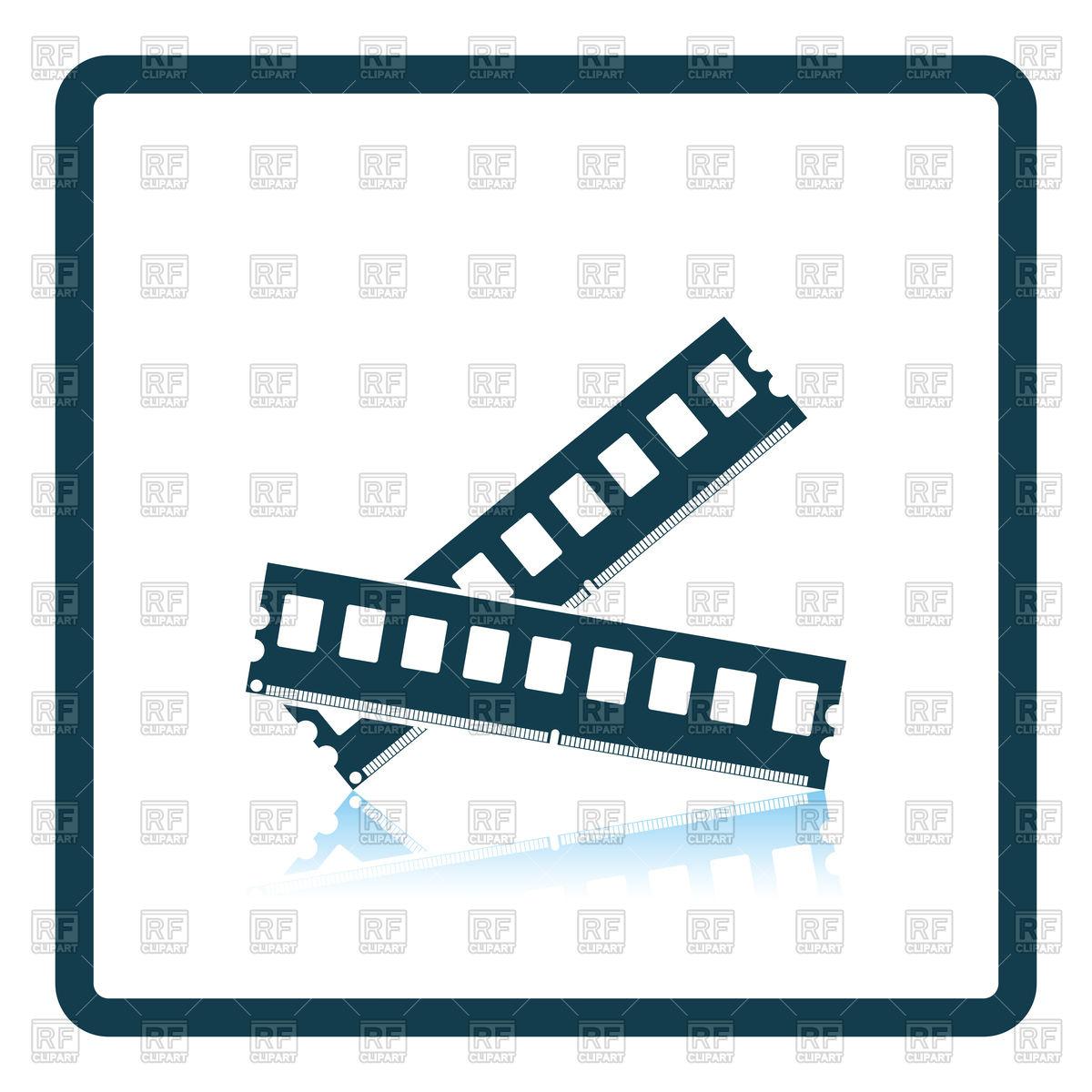 1200x1200 Computer Memory Icon, Element Of Motherboard Vector Image Vector