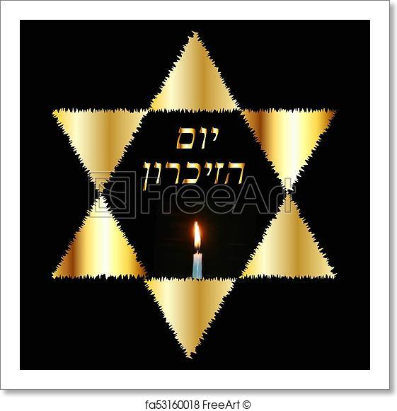 561x581 Free Art Print Of International Holocaust Remembrance Day On 27