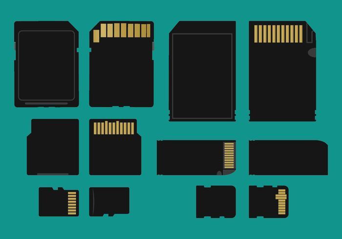 700x490 Memory Card Types Vector