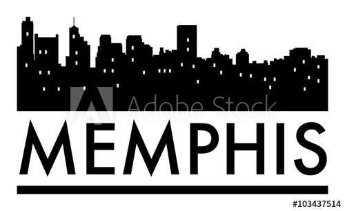 Memphis Skyline Vector