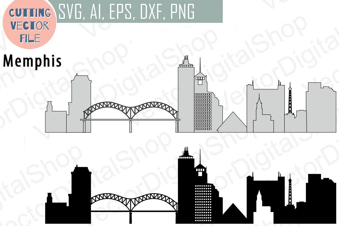 1158x772 Memphis Vector, Tennessee Skyline Usa City, Svg, Jpg, Png, Dwg