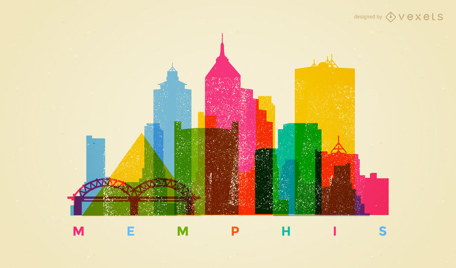 900x529 Colorful Memphis Skyline