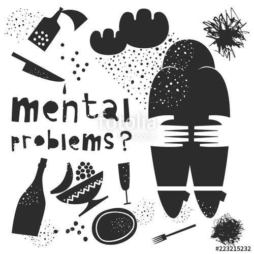 500x500 Mental Health. Vector Illustration Stock Image And Royalty Free