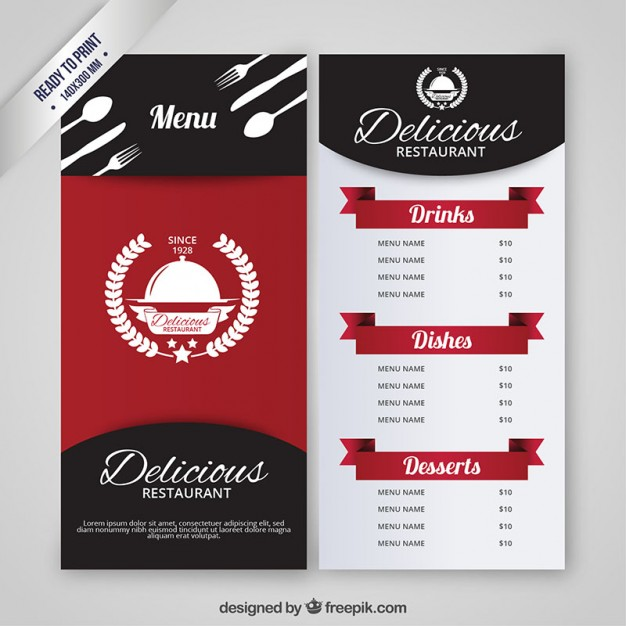 Menu Restaurant Vector