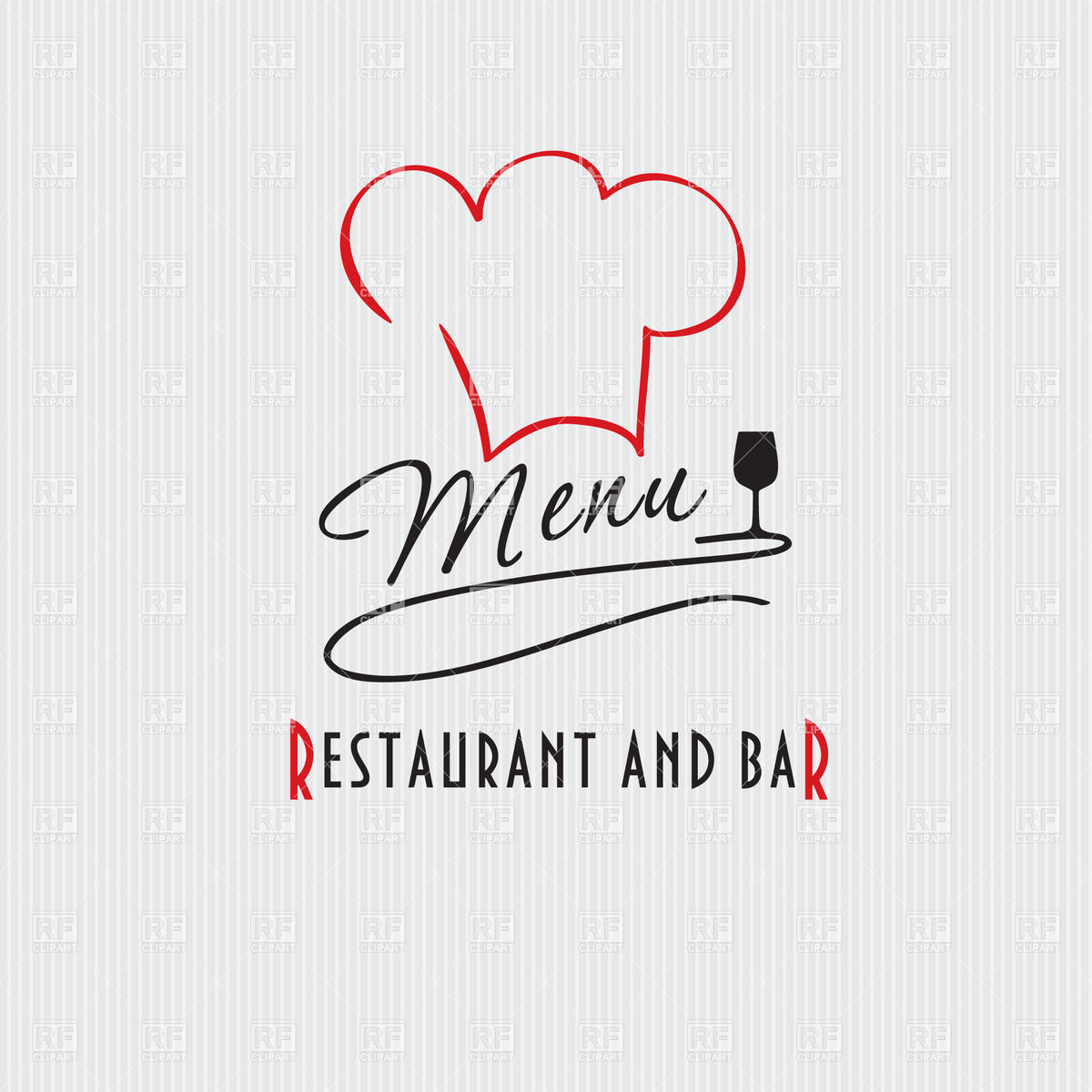 1200x1200 Restaurant And Bar Menu With Chef Hat Vector Image Vector