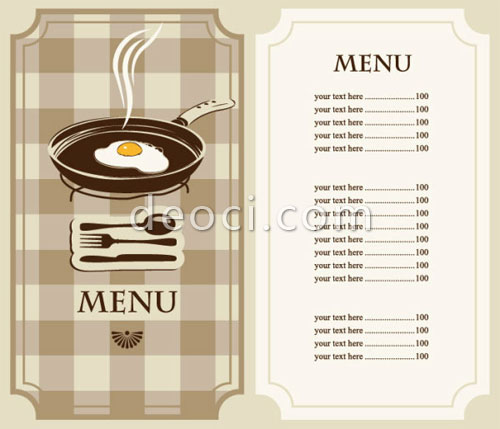 500x429 Template Menu Cafe And Restaurant Vector Set Eps Files For Free