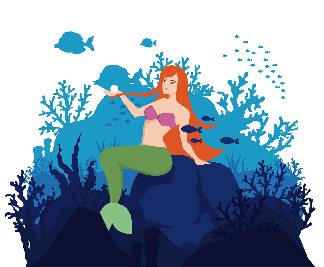 1136x936 Mermaid Vector Illustration Vector Art Amp Graphics
