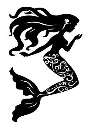 300x425 Mermaid Silhouette Free Vector In Encapsulated Postscript Eps