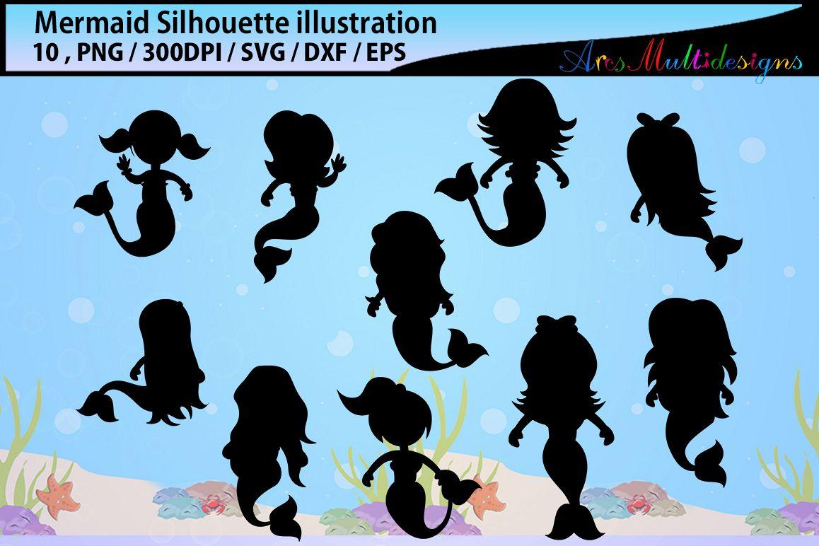 1158x772 Baby Mermaid Mermaid Silhouette Svg Water Silhouette Beauty