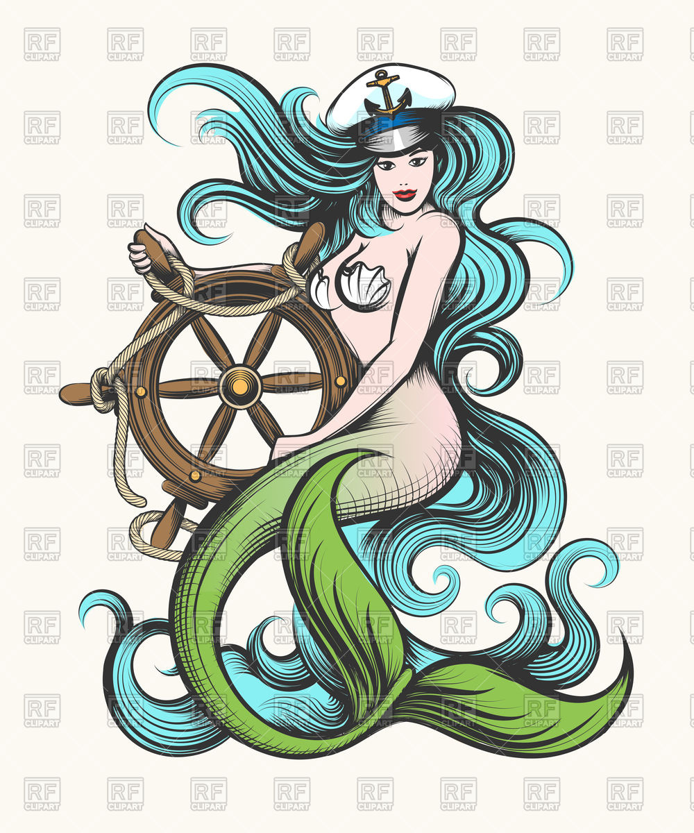 Mermaid Vector Free